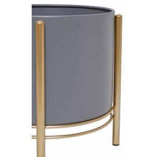 KWIETNIK metalowy czarny na złotych nogach komplet 3 szt