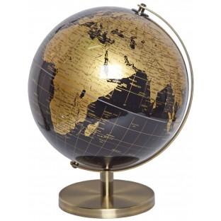 Globus złoto czarny 30 cm