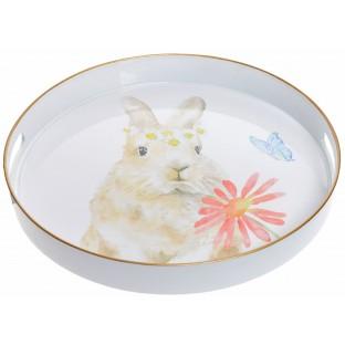 Taca kuchenna okrągła z królikiem