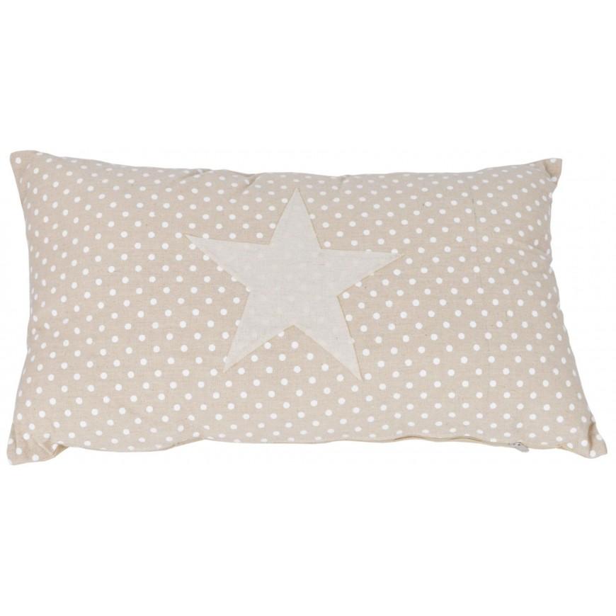 Poduszka beżowa w gwiazdki