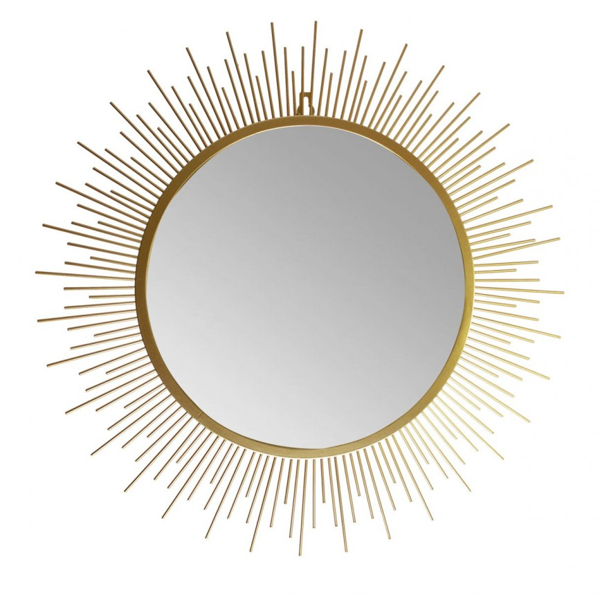 Lustro słońce w złotej ramie 80 cm