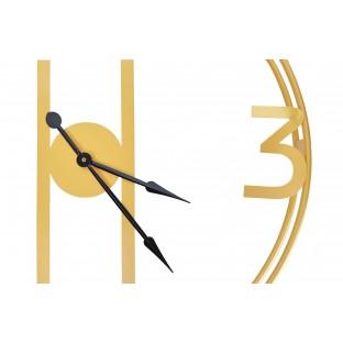Zegar ścienny okrągły metalowy złoty