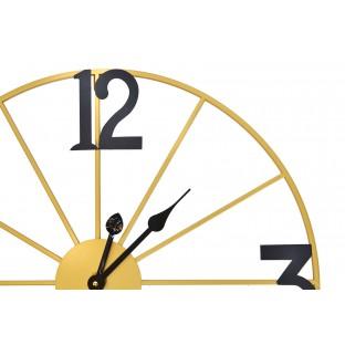 Zegar ścienny okrągły metalowy 60 cm złoty