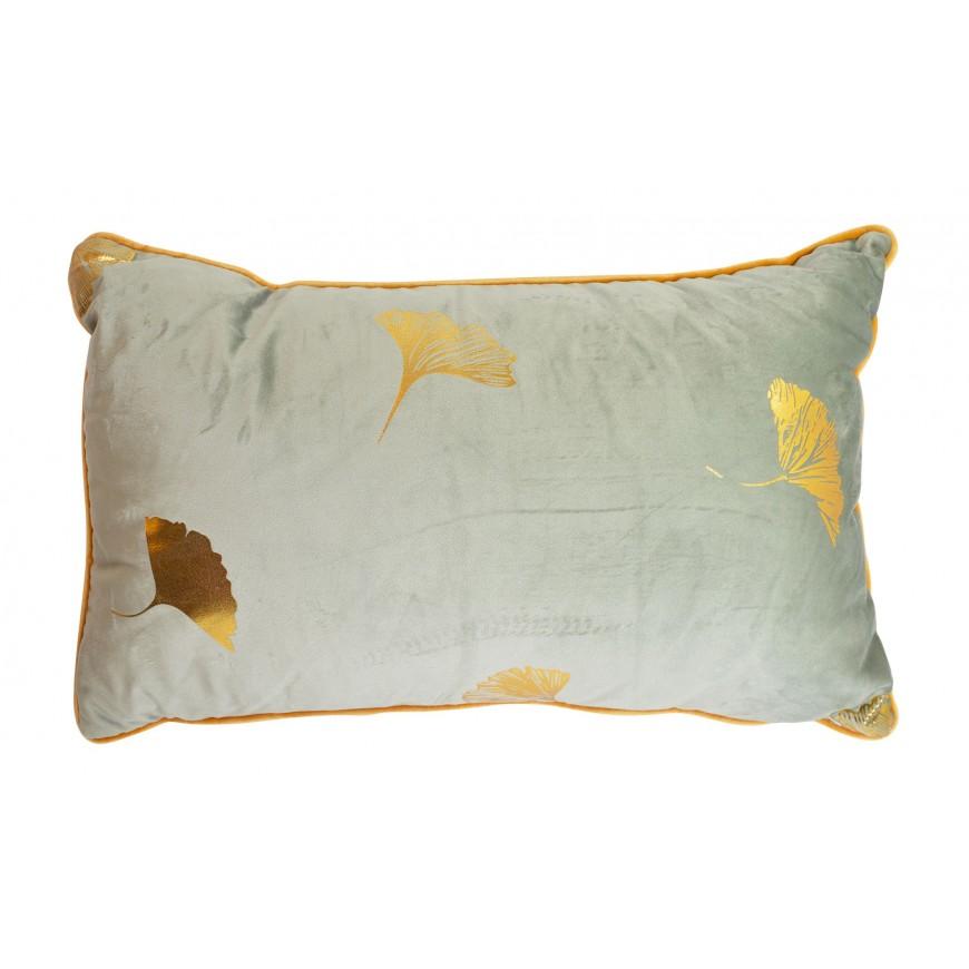 Poduszka welurowaprostokątna jasno zielona 45x30