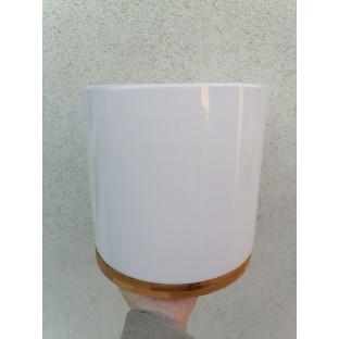 Osłonka kremowa bamboo 18x19 cm