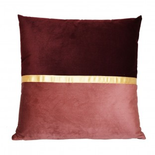 Poduszka welurowa bordowa 2 kolory duża 45x45 cm