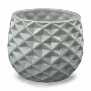 Osłonka ceramiczna geometryczna szara 13x16