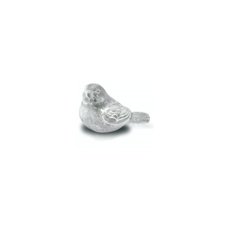 Ptaszek ceramiczny szary betonowy szary 9x6,5 cm