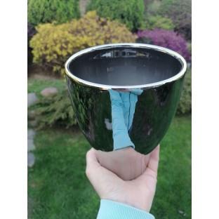Osłonka ceramiczna srebrna18 cm