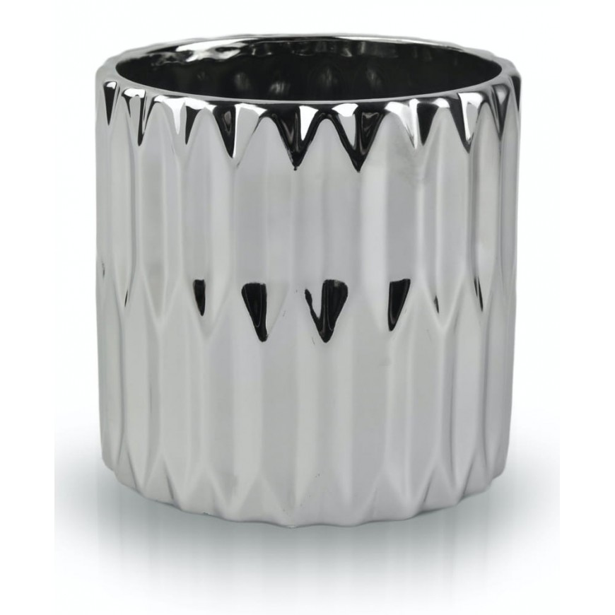 Osłonka ceramiczna srebrna cylinder