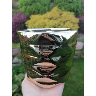 Osłonka ceramiczna złota 16x13 cm