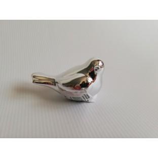 Ptaszek srebrny ceramiczny 9x5 cm