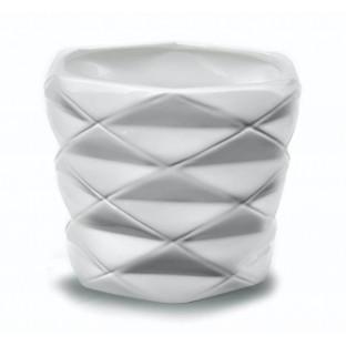 Osłonka ceramiczna geometryczna biała