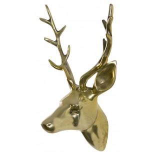 Poroże jelenia złote 20x30 cm