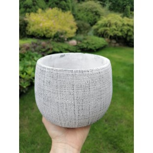 Osłonka betonowa okrągłą szara 13x17