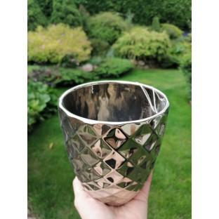 Osłonka ceramiczna złota 15x14 cm