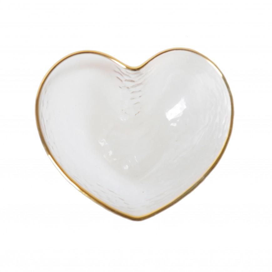 Miseczka szklana w kształcie serca 15x13 cm