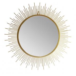 Lustro słońce w złotej ramie 61 cm