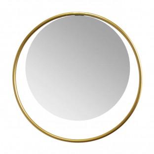 Lustro w złotej okrągłe