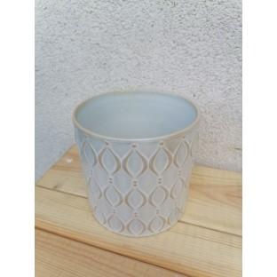 Osłonka ceramiczna turkusowa 13x13 cm /wz1/