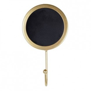 Wieszak metalowy czarno-złoty 1 hak 10x18