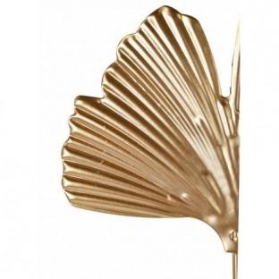 Świecznik metalowy wiszący złoty miłorząb 15x16 cm