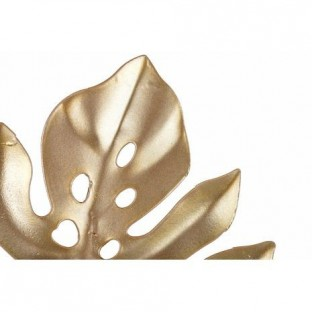 Wieszak metalowy złoty liść monstery 1 haczyk 18 cm