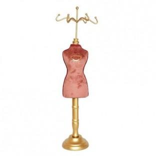 Manekin stojak na biżuterię różowy 40 cm
