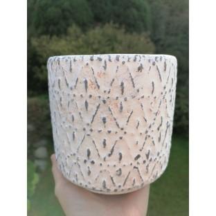 Osłonka ceramiczna biało szara 15x15