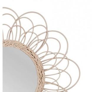 Lustro w rattanowej ramie okrągłe 65 cm