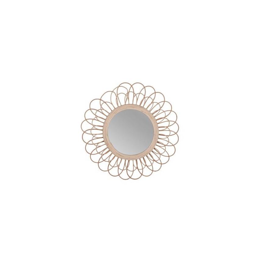 Lustro w rattanowej ramie okrągłe 60 cm