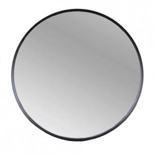 Lustro ścienne metalowe w czarnej ramie okrągłe 50 cm