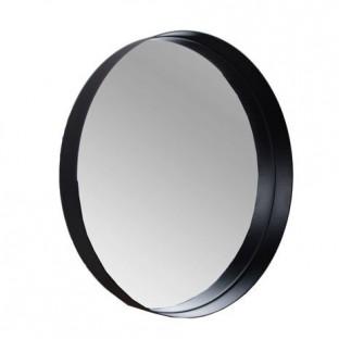 Lustro ścienne metalowe w czarnej ramie okrągłe 40 cm