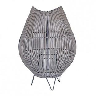 Latarnia rattanowa ze szklanym wkładem 43 cm