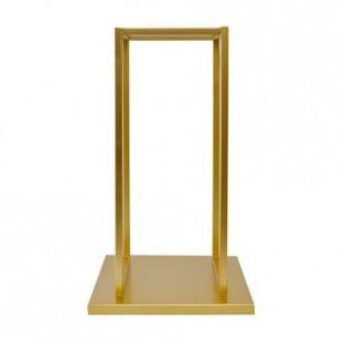 Stojak na drewno metalowy złoty 59 cm