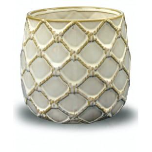 Osłonka ceramiczna kremowa vintage