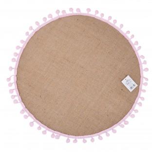 Podkładka na stół mata jutowa okrągła 38 cm