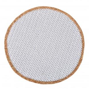 Podkładka na stół mata jutowa okrągła 38 biała