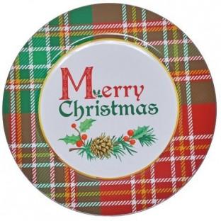 Podtalerz TACA świąteczna MERY CHRISTMAS tworzywo 33 cm
