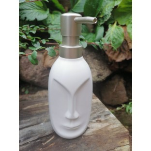 Dozownik do mydła biała głowa ceramika 19 cm