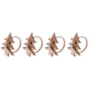 Serwetnik metalowy obrączka choinka