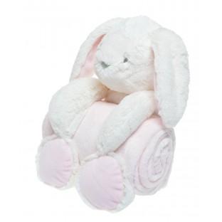 Kocyk dla niemowlaka z królikiem