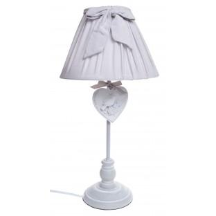 Lampa stołowa szara z kokardą 44 cm