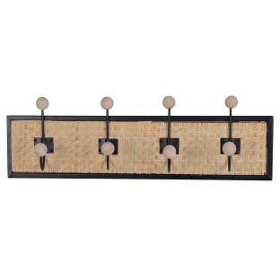 Wieszak rattanowo – metalowy na 4 haki 50 cm
