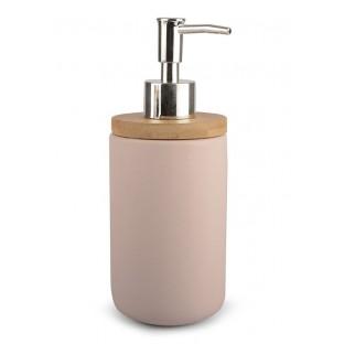 Dozownik do mydła ceramiczny różowy