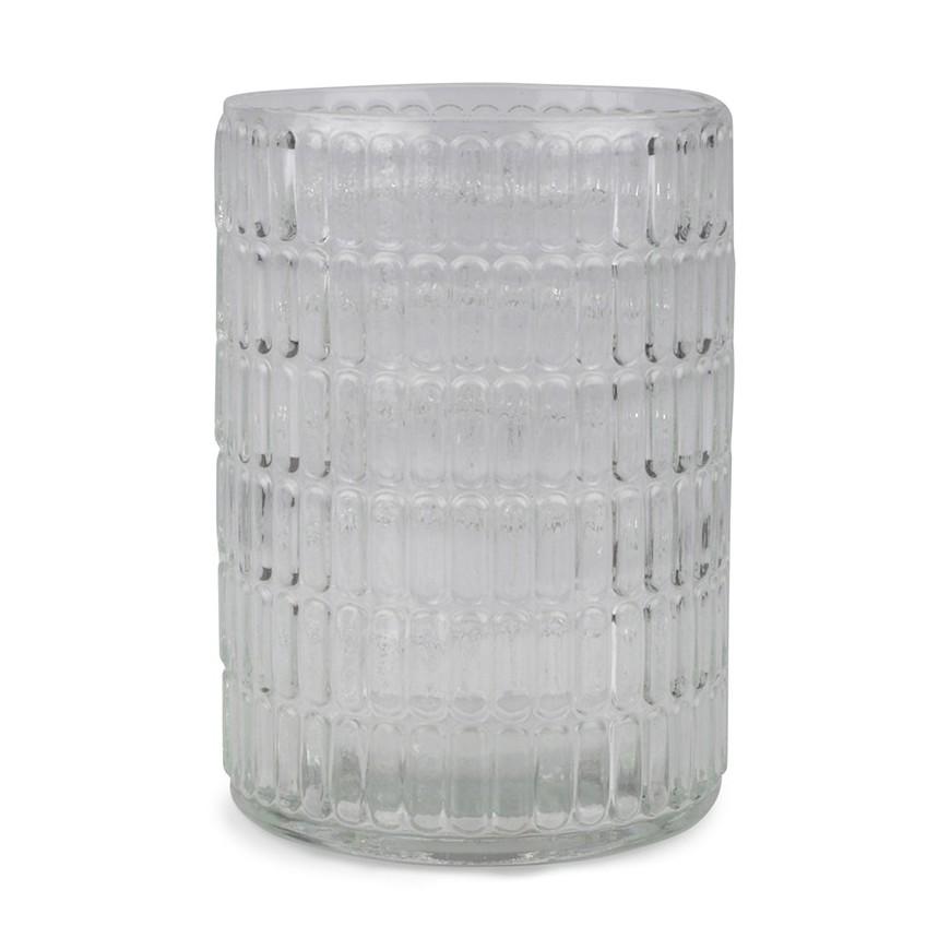 Kubek łazienkowy szklany 8x10 cm