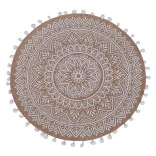 Podkładka na stół mata jutowa okrągła