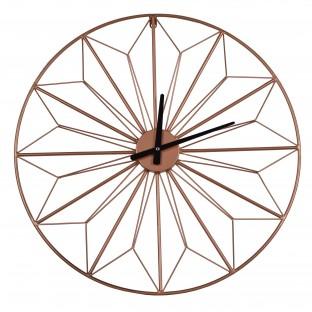 Zegar metalowy okrągły ścienny miedziany 60 cm