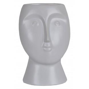 Wazon ceramiczny biała głowa