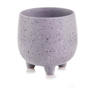 Osłonka na nóżkach ceramiczna marmurowa 13,5 x14,5 cm